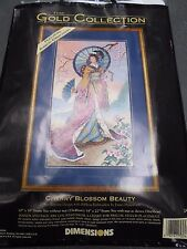 DIMENSIONS GOLD COLLECTION Cherry Blossom Beauty 2452 Needlepoint Kit Rare