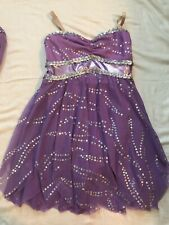 Dance Recital Costume Girls Child Large Sequin Lilac