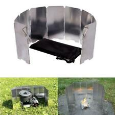 9 Plates Foldable Cooker Stove Wind Shield Screens Outdoor Camping Picnic Cook