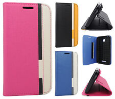 For HTC Desire 510 Premium Leather Cradle Wallet Pouch Flip Case + Screen Guard