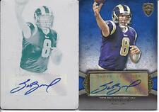 Sam Bradford Topps Supreme 2011 2 Card Auto + Printing Plate 1/1 04/27 Rookie RC
