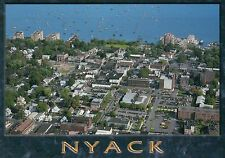 Aerial View of Nyack, New York, Rockland County, Home of Helen Hayes -- Postcard