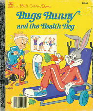Bugs Bunny And The Health Hog - A Little Golden Book #110-60 1986 FREE Shipping