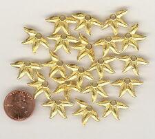 20 Vintage Gold Plated Metal 4 LEAF Charm Pendants 21x12mm #R31