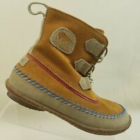 Sorel Womens Boots Brown Suede Leather Lace Up Size 5 #F60