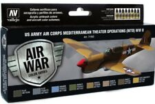 Vallejo VLJ-71183 US Army Air Corps Mediterranean WWII Model Air Paint Set