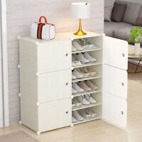 12Multi-function Modern Shoe Cabinet Shoe Bookcase Storage Cabinet Organizer DIY