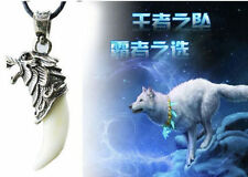 Mens Boys Punk Brave Man Wolf Tooth Pendant Necklace Domineering