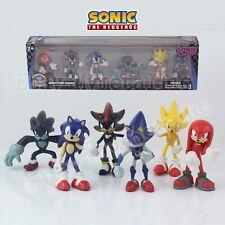 6pcs Sonic the Hedgehog Super Metal Sonic Shadow Knuckles Werehog PVC Figure WB
