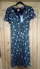 Marks & Spencer m&s Portefeuille robe noir & crème extensible en Jersey Taille 1...