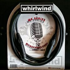 Whirlwind MK410 10 ft XLR Microphone Cable Mic Cord Made USA