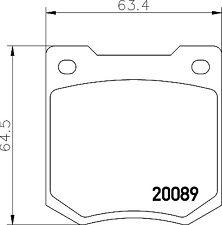 MGB443 MINTEX Brake Pad Set disc brake front