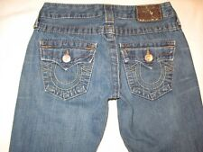 True Religion Jeans Women Billy Straight Leg Flap Pocs 100% Cotton Sz 26