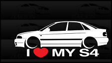I Love My S4 B5 Sticker Decal Audi A4 & S4 1.8T Germany Sedan Stance 2.7 TT