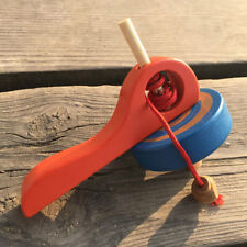 Popular Gyroscope Handle Wire Gyro Toy Wooden Peg-Top Spinning Top Bust B