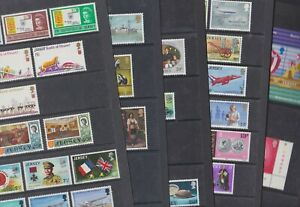 Jersey 1969-79 Mint MNH Full Sets Vars Flaw Trains Planes Animals Flowers Birds