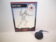 Star Wars Miniaturas-capitán Argyus 19/40 - muy Raro-Gaw
