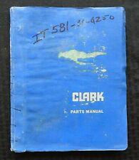1965-1979 CLARK IT60 IT70 IT80 FORKLIFT LIFT TRUCK PARTS CATALOG MANUAL