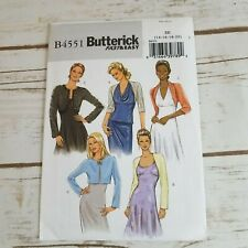 Butterick 4551 Fast Easy Womens Jacket Sewing Pattern Size 14 16 18 20