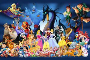 Disney Characters Art Wall Indoor Room Outdoor Poster - POSTER 24x36