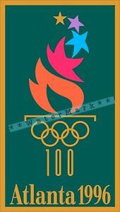 Summer Olympics 1996 Atlanta Georgia Vintage Poster Print Retro Style Sports Art