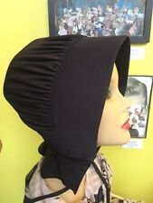 Amish Bonnet from Amish Farmhouse Authentic Old Order Long Ties Black