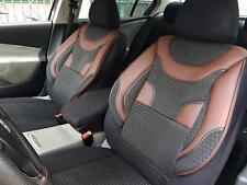 Sitzbezüge Autositzbezüge für Opel Astra schwarz-rot V359380 Vordersitze