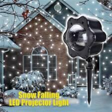 Christmas Snowing Shower Laser Projector LED Light Lanscape Garden Stage Decor