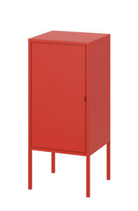"Brand new, IKEA LIXHULT Cabinet, metal/red, 13 3/4x23 5/8 "" , 503.286.70"