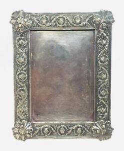 Tiffany & Co. Antique Silver Soldered Plated Repousse Picture Frame