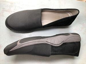 Dansko Women's Black Elastic Top Leather Comfort Walking Shoes Size 38 / 8