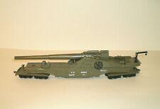 Model Power HO Scale US Army Big Thunder Railway Gun & Flatcar...Operating Wheel