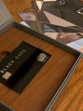 BLACK CARD MASTERCARD (Like American Express AMEX CENTURION Metal/Steel Credit)