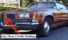 NOS PONTIAC 1971 BONNEVILLE GRAND VILLE VERTICAL GRILLE MOLDINGS PAIR  6