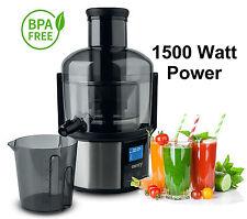 Power Saftpresse 1500 Watt elektrischer Entsafter Fruchtpresse Juicer Obstpresse
