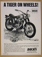1969 Ducati 350 SSS motorcycle photo vintage print Ad