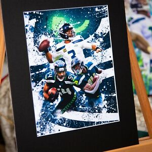 Seattle Seahawks - Russell Wilson #3 D.K. Metcalf #14 Bobby Wagner #54