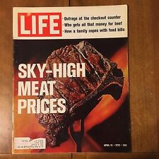 LIFE Magazine ~ April 14 1972 ~Sky-High Meat Prices~Liberated Ladies ~ 70's Ads