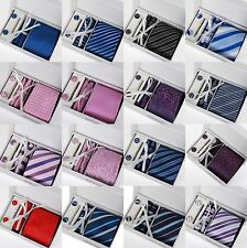 Tie cufflink and hanky hankerchief set Classic fashion mens gift party wedding