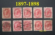 1897-1898 Queen Victoria Stamps Scott # 69 USED 10 x 3¢ - 99¢ Postage Canada
