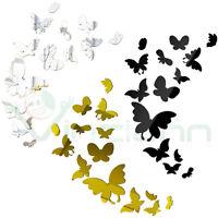Wall Sticker adesivo Mirror Butterflies 3D decorazione parete specchio farfalla
