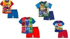 Chicos Niños Paw Patrol Pantalones Cortos Pijamas Ropa De Dormir Pijama 100% Algodón Rojo Azul