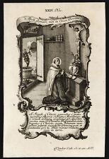 santino incisione1700 S.GIOVANNI DELLA CROCE   klauber