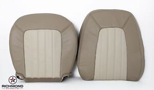 2004 Mercury Mountaineer -Driver Side COMPLETE Leather Seat Covers 2-Tone Tan
