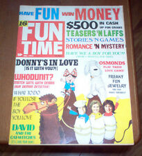 Fun Time Magazine 1972 Donny Osmond Brothers David Cassidy Rare Vintage Music