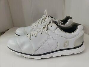 FootJoy Mens Pro SL - White/Silver Golf Shoes men's size 12M
