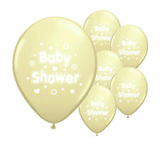 "10 x Baby shower ivory 12"" helium or air fill balloons baby boy/ girl decoration"