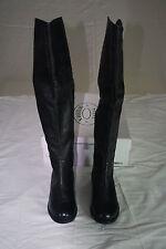 New Steve Madden Women's Otk over the knee Black leather Boot Size: Us 6 Eur 37