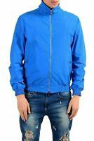 Versace Collection Men's Blue Full Zip Windbreaker Jacket US S IT 48