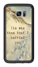Footprints In Sand Poem Religious For Samsung Galaxy S7 G930 Case Cover by Atomi